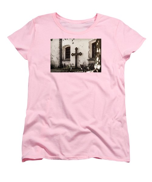 The Church Courtyard Women's T-Shirt (Standard Cut) by Bill Howard