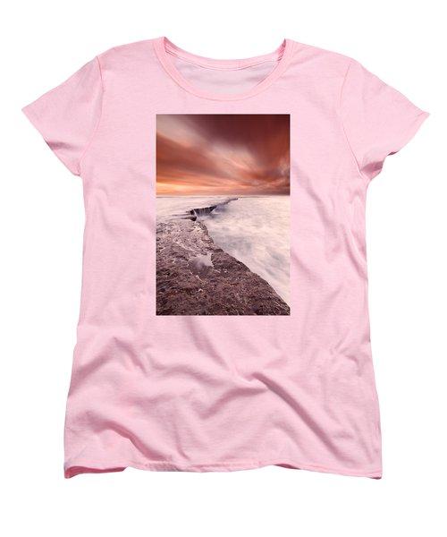 The Edge Of Earth Women's T-Shirt (Standard Cut) by Jorge Maia