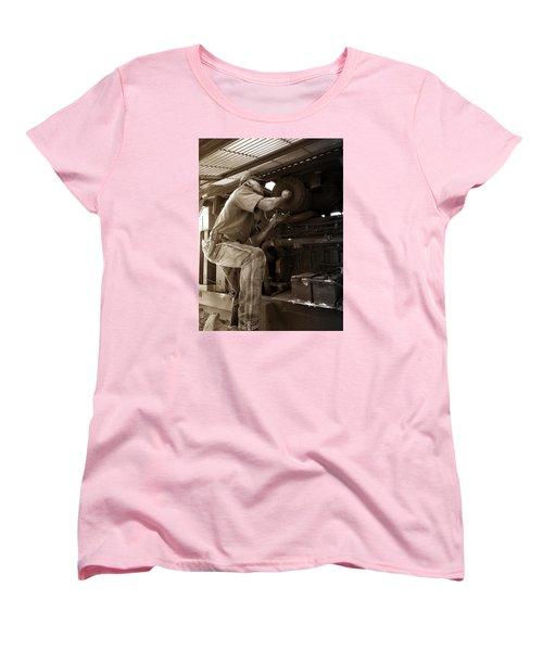 The Farmer Women's T-Shirt (Standard Cut) by Rebecca Davis