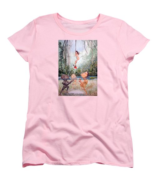 The Game Of The River Women's T-Shirt (Standard Cut) by Lazaro Hurtado
