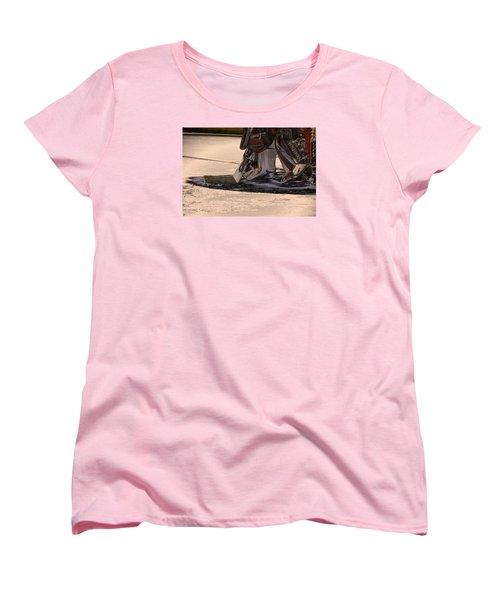 The Goalies Crease Women's T-Shirt (Standard Cut) by Karol Livote