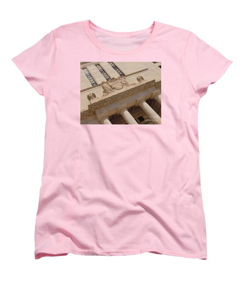 Women's T-Shirt (Standard Cut) featuring the photograph The Historical Federal Reserve Bank Of Dallas by Robert ONeil