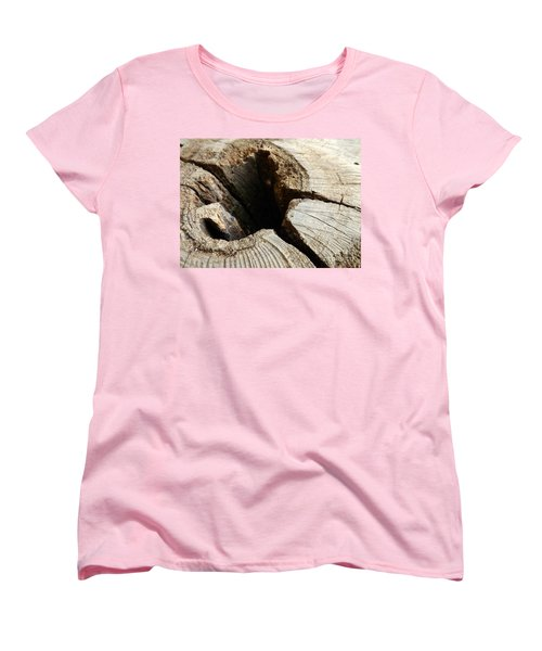 Women's T-Shirt (Standard Cut) featuring the photograph The Hole by Clare Bevan