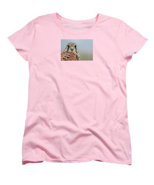 The Kestrel Face To Face Women's T-Shirt (Standard Cut) by Torbjorn Swenelius