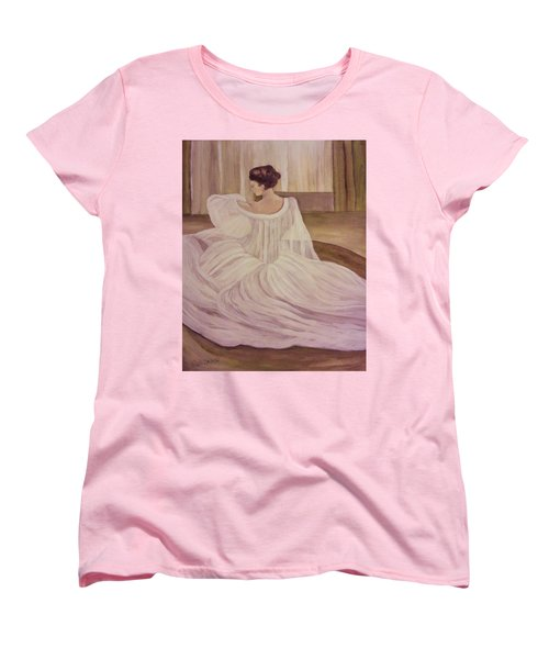 The Lady In White Women's T-Shirt (Standard Cut) by Christy Saunders Church
