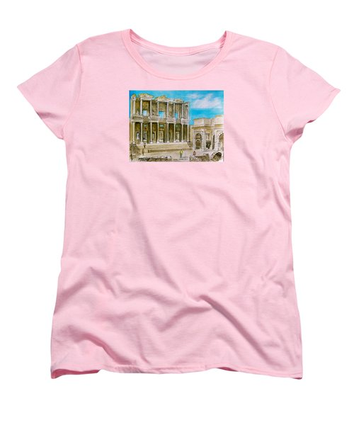 The Library At Ephesus Turkey Women's T-Shirt (Standard Cut) by Frank Hunter