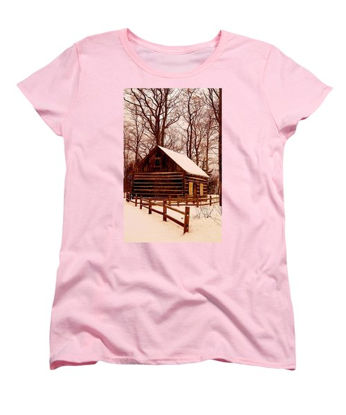 The Log Cabin At Old Mission Point Women's T-Shirt (Standard Cut) by Daniel Thompson