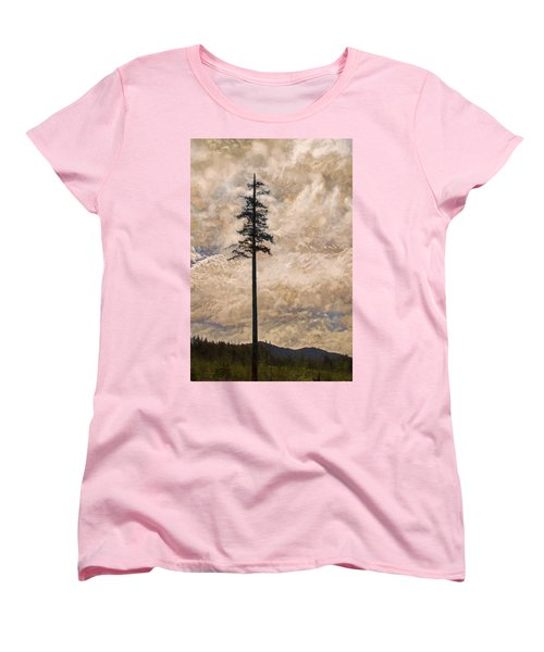The Lone Survivor Stands In Tranquility Women's T-Shirt (Standard Cut) by Peggy Collins