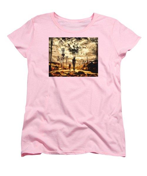 The Lone Wanderer Women's T-Shirt (Standard Cut) by Joe Misrasi