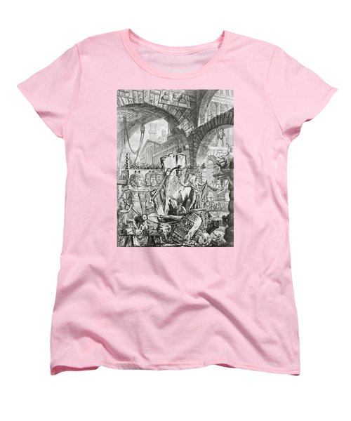 The Man On The Rack Plate II From Carceri D'invenzione Women's T-Shirt (Standard Cut) by Giovanni Battista Piranesi
