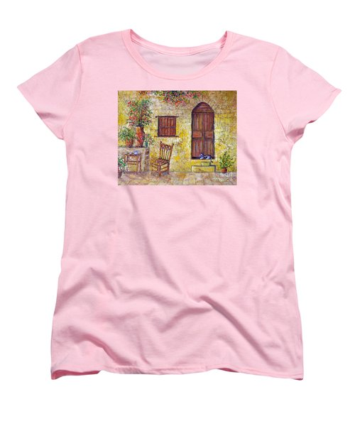 The Old Chair Women's T-Shirt (Standard Cut) by Lou Ann Bagnall
