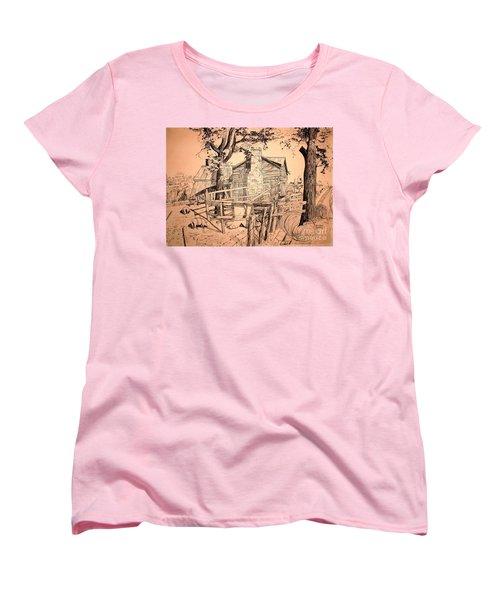 The Pig Sty Women's T-Shirt (Standard Cut) by Kip DeVore