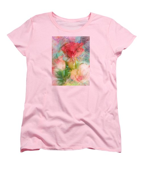 The Romance Of Roses Women's T-Shirt (Standard Cut) by Carla Parris