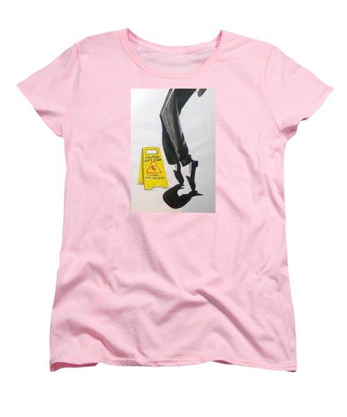 Women's T-Shirt (Standard Cut) featuring the painting The Secret El Secreto by Lazaro Hurtado