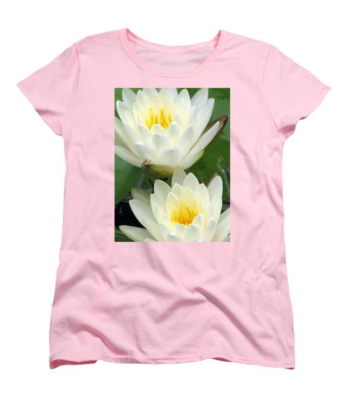 Women's T-Shirt (Standard Cut) featuring the photograph The Water Lilies Collection - 09 by Pamela Critchlow