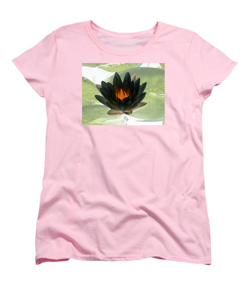 Women's T-Shirt (Standard Cut) featuring the photograph The Water Lilies Collection - Photopower 1037 by Pamela Critchlow