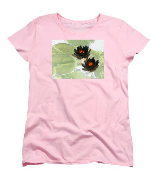 Women's T-Shirt (Standard Cut) featuring the photograph The Water Lilies Collection - Photopower 1039 by Pamela Critchlow