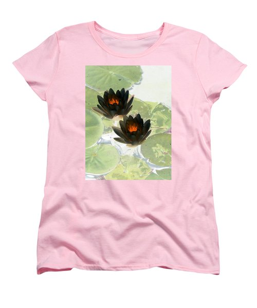 Women's T-Shirt (Standard Cut) featuring the photograph The Water Lilies Collection - Photopower 1040 by Pamela Critchlow