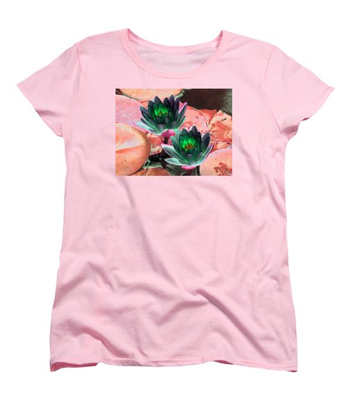 Women's T-Shirt (Standard Cut) featuring the photograph The Water Lilies Collection - Photopower 1120 by Pamela Critchlow
