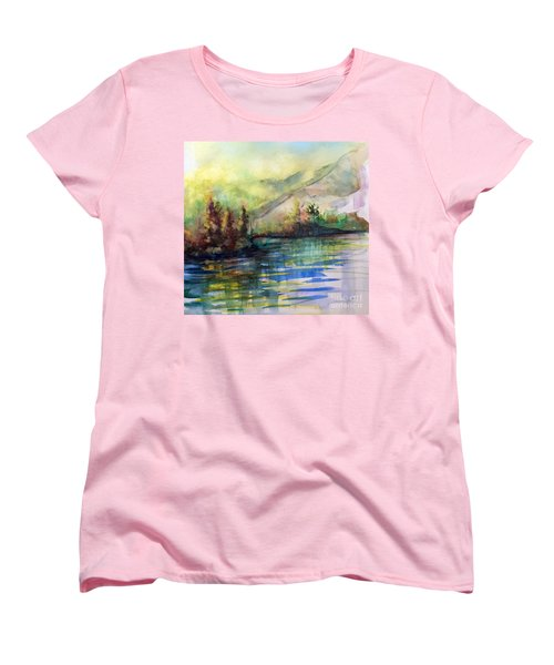 Women's T-Shirt (Standard Cut) featuring the painting Thinking Of Sargent by Allison Ashton