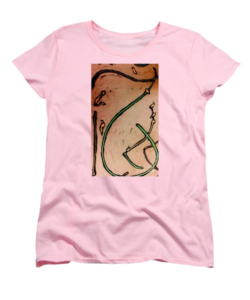 Women's T-Shirt (Standard Cut) featuring the painting Thirteen by Jacqueline McReynolds