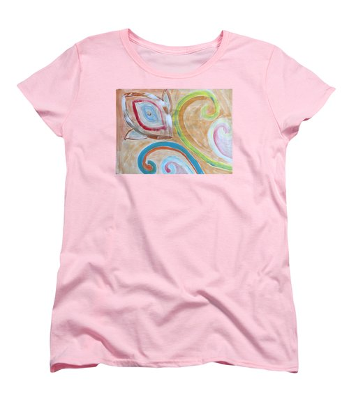 Women's T-Shirt (Standard Cut) featuring the painting Thought by Sonali Gangane
