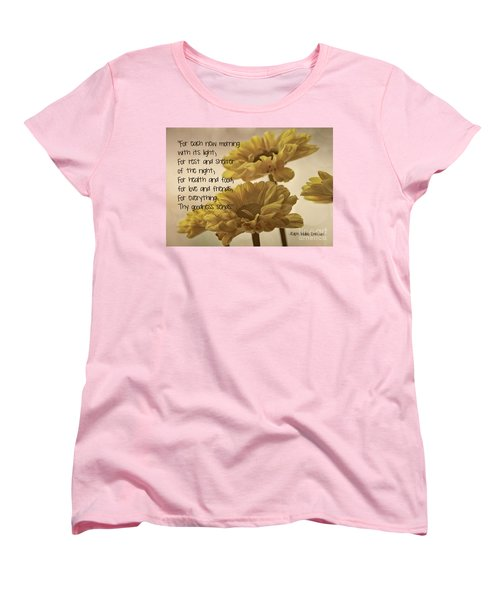 Thoughts Of Gratitude Women's T-Shirt (Standard Cut) by Peggy Hughes