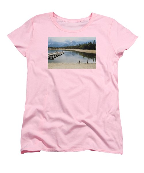 Throwing Rocks Women's T-Shirt (Standard Cut) by Stuart Litoff