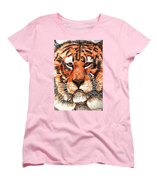 Tiger Women's T-Shirt (Standard Cut) by Angela Murray