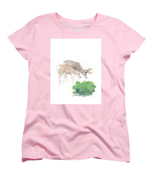 Women's T-Shirt (Standard Cut) featuring the painting Too Dear by C Sitton