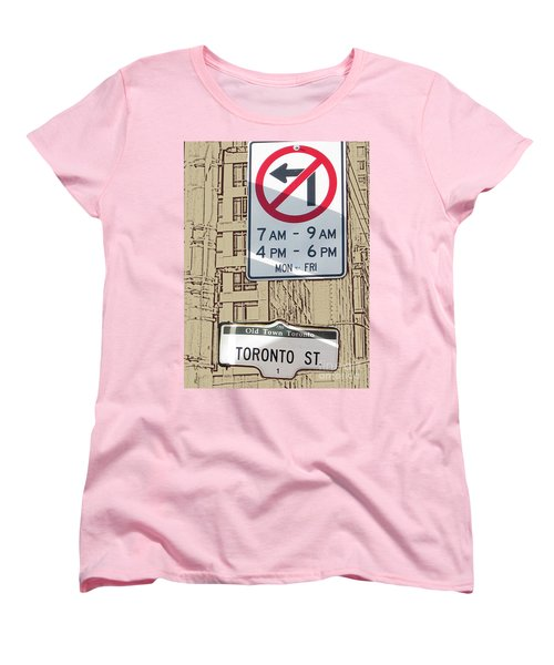 Toronto Street Sign Women's T-Shirt (Standard Cut) by Nina Silver