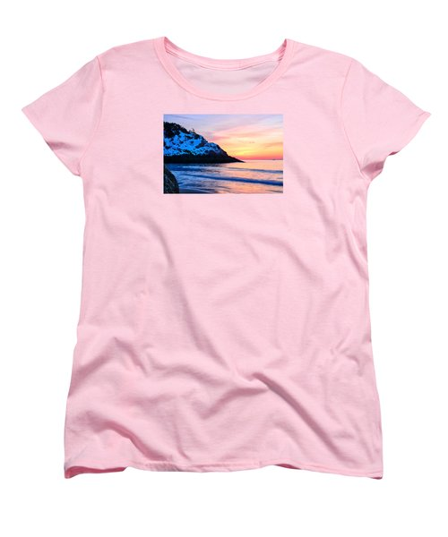 Touch Of Snow Singing Beach Women's T-Shirt (Standard Cut) by Michael Hubley