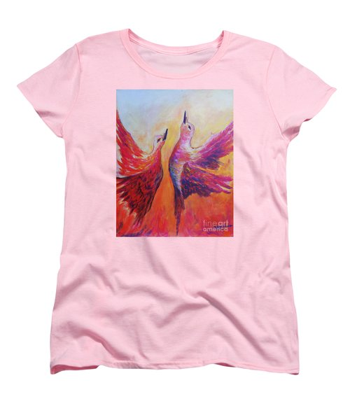 Towards Heaven Women's T-Shirt (Standard Cut) by Sher Nasser