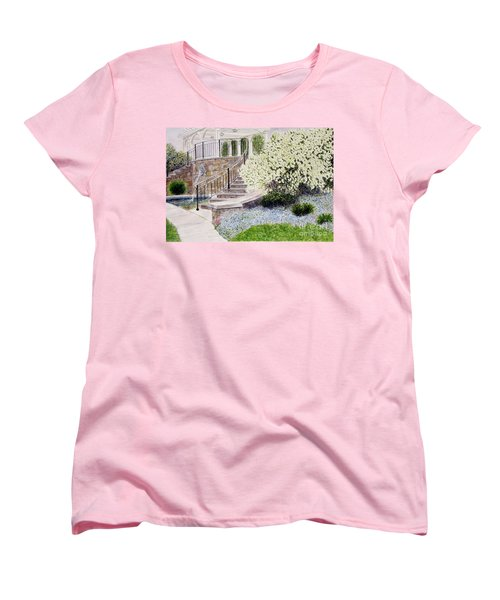 Women's T-Shirt (Standard Cut) featuring the painting Tower Hill Blues by Carol Flagg