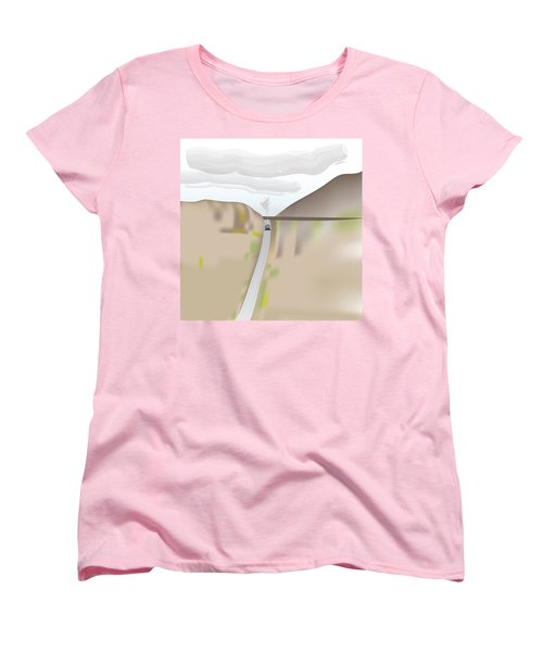 Train Landscape Women's T-Shirt (Standard Cut) by Kevin McLaughlin