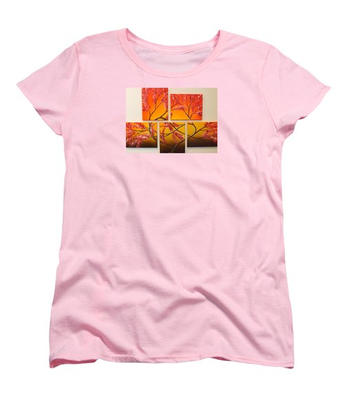 Women's T-Shirt (Standard Cut) featuring the painting Tree Of Infinite Love by Darren Robinson