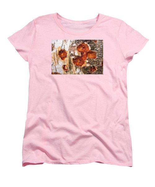 Tree Trunk Closeup - Wooden Structure Women's T-Shirt (Standard Cut)