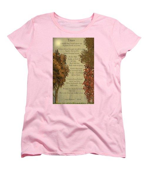 Trees Women's T-Shirt (Standard Cut) by David Dehner