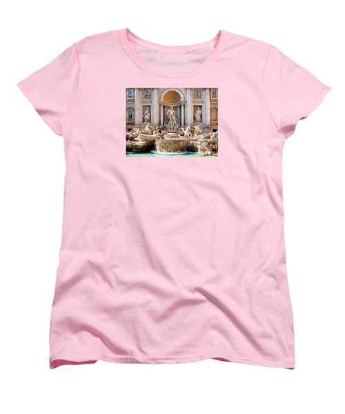 3 Coins Trevi. Rome Women's T-Shirt (Standard Cut) by Jennie Breeze