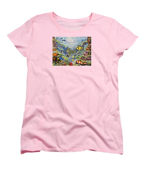 Tropical Paradise Women's T-Shirt (Standard Cut) by Jeffrey Koss