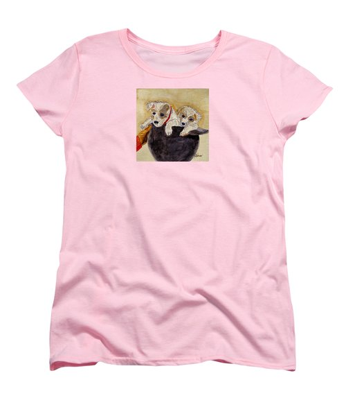 Women's T-Shirt (Standard Cut) featuring the painting Trump And Tillie by Angela Davies