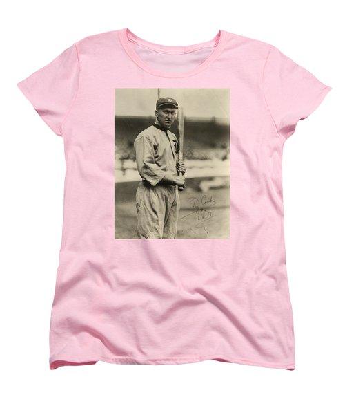 Ty Cobb  Poster Women's T-Shirt (Standard Cut) by Gianfranco Weiss