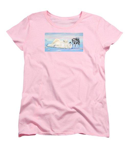 Unusual Buddies  Must Open Women's T-Shirt (Standard Cut) by Phyllis Kaltenbach