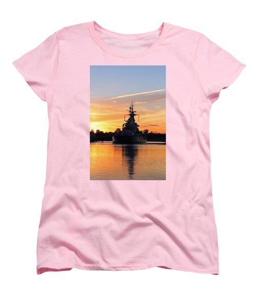 Women's T-Shirt (Standard Cut) featuring the photograph Uss Battleship by Cynthia Guinn