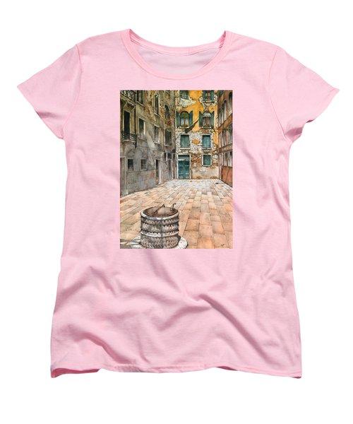 Venetian Courtyard 02 Elena Yakubovich Women's T-Shirt (Standard Cut) by Elena Yakubovich