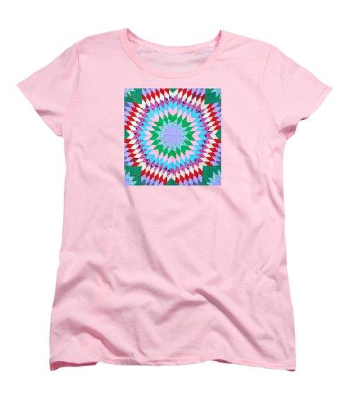 Vibrant Quilt Women's T-Shirt (Standard Cut) by Art Block Collections