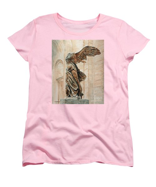 Victory Of Samothrace Women's T-Shirt (Standard Cut) by Joey Agbayani