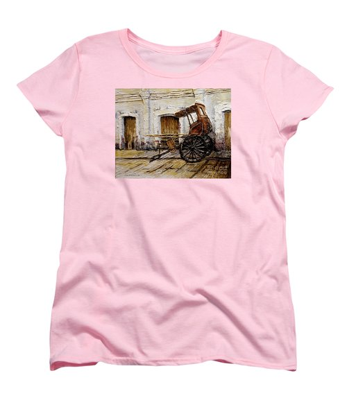 Vigan Carriage 1 Women's T-Shirt (Standard Cut) by Joey Agbayani
