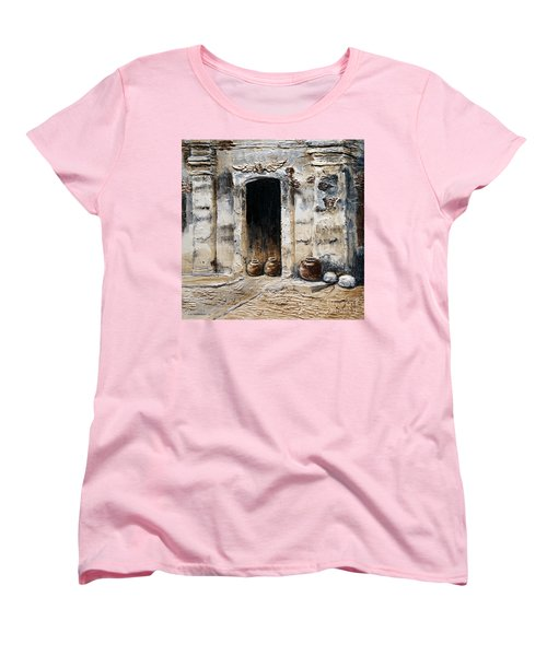 Vigan Door Women's T-Shirt (Standard Cut) by Joey Agbayani
