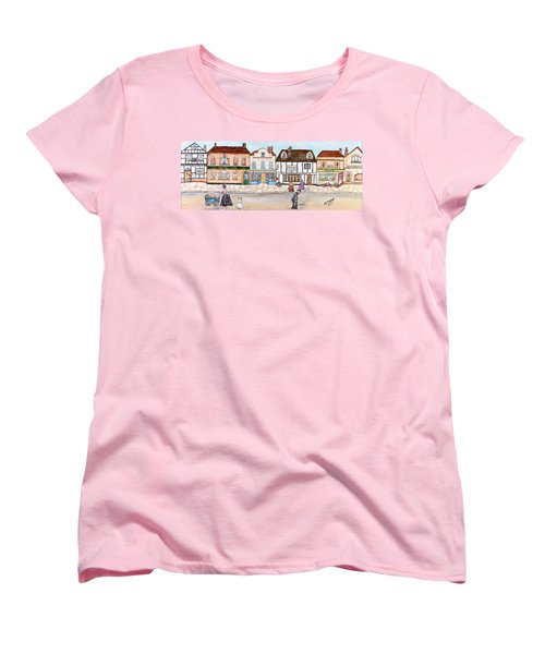 Villaggio Antico Women's T-Shirt (Standard Cut) by Loredana Messina